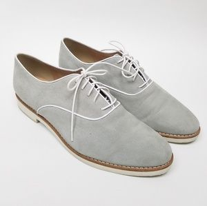 J. Crew Light Gray Leather Oxford Shoes size 8.5